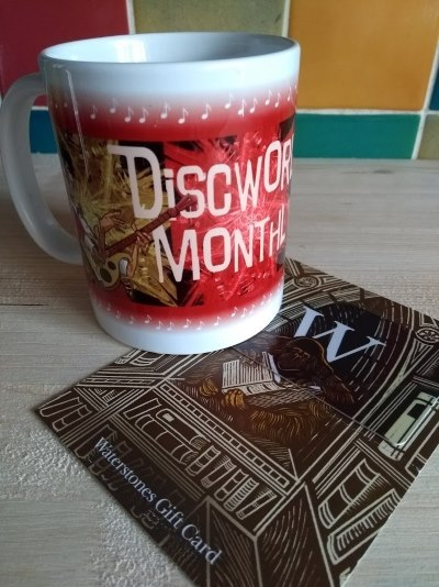 Soul Music Mug and Waterstones Librarian Gift Card