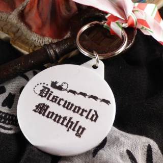 Black and White Hogswatch Keyring