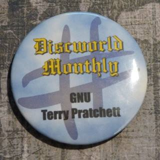 Item: #GNU Terry Pratchett Fridge Magnet