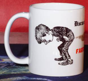 Detail (left): Farting Team Mug