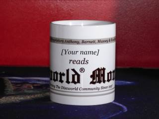 Personalised [your name] loves to read Discworld® Monthly mug