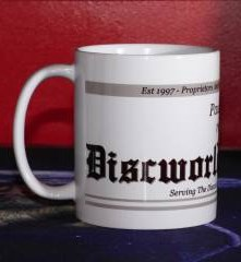 Detail (left): Personalised [your name] loves to read Discworld® Monthly mug