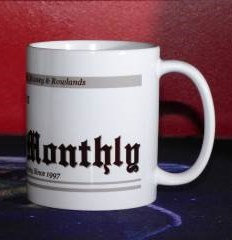Detail (right): Personalised [your name] loves to read Discworld® Monthly mug