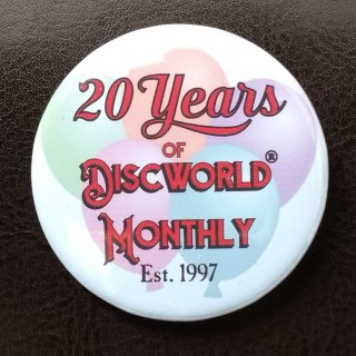 Item: 20 Years of Discworld Monthly Pin Badge