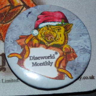 Hogswatch Piggy Pin Badge